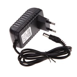 100% New AC DC 5.5 x 2.5MM Adapter DC 12V 1A AC 100-240V Converter Adapter Charger Power Supply EU Plug Black