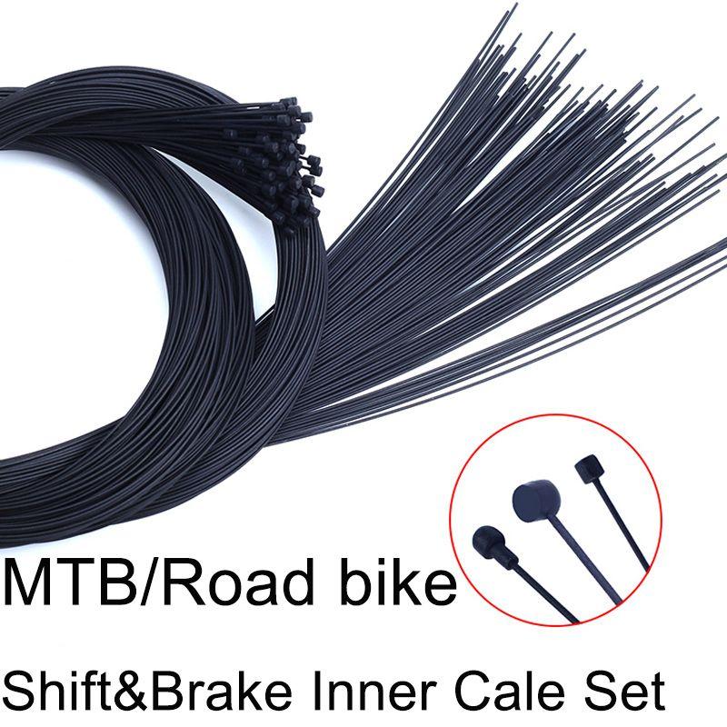 4 stücke Teflon Beschichtet Verschiebung & Brems Inneren Kabel Gruppe Für MTB Rennrad Vorne Schaltwerk Brems Inneren kabel Draht Sets