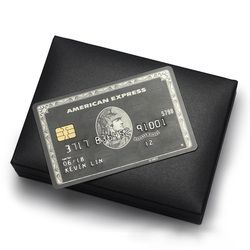 Metal card / American Express Card / chip card magnetic stripe card / The centurion black card / Free shipping