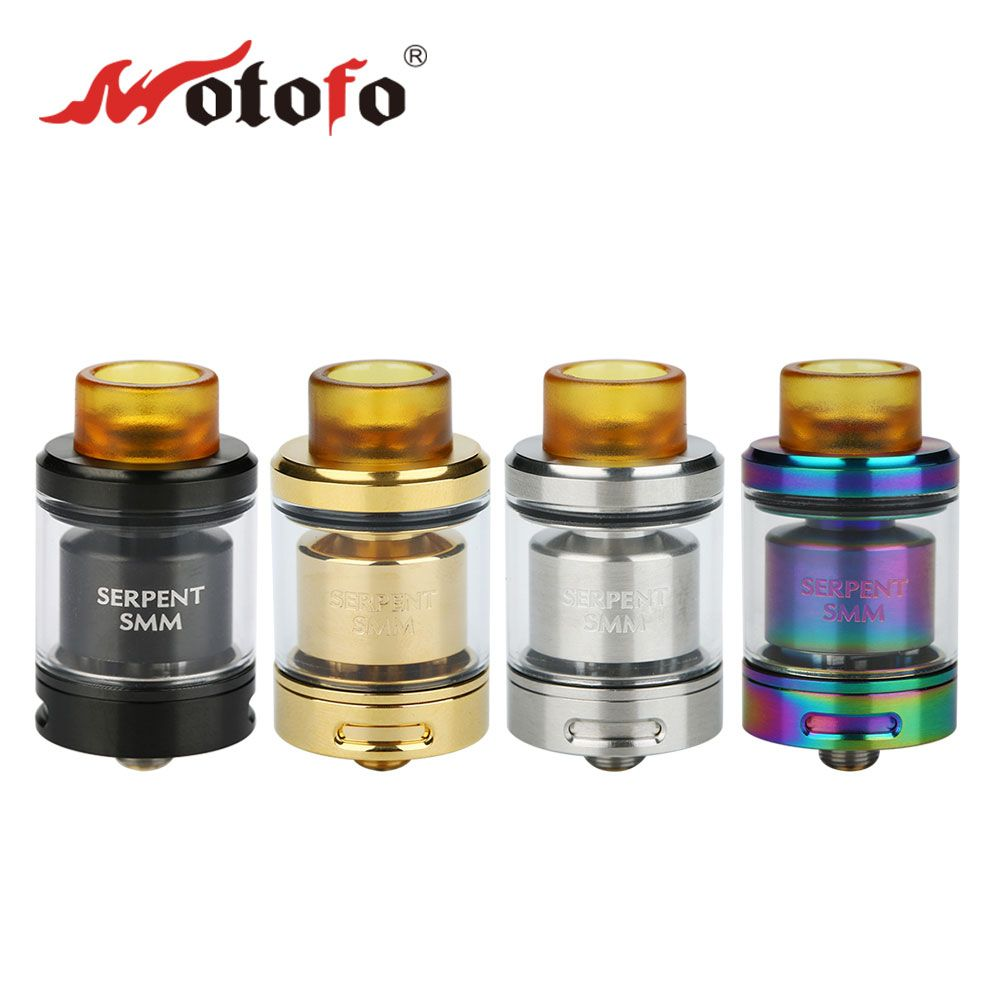 100% Original WOTOFO Serpent SMM RTA 4ml Rebuildable Tank Atomzier for Box MOD Battery/Mech MOD Designed by Suck My Mod & WOTOFO