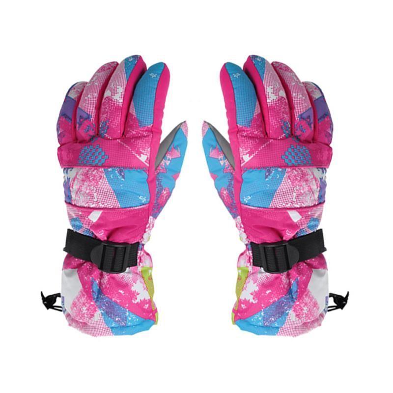 Women Winter Ski Gloves Snowboard Gloves Waterproof Windproof Ski Snowmobile Motorcycle Riding Warm Gloves Unisex Skiing Gloves