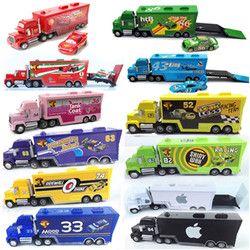 Disney Ventes Chaudes Pixar Cars 2 Plus Nouveau Foudre McQueen Mack Oncle camion 1:55 Moulé Sous Pression Le Roi De Voiture Jouets Enfants Les Meilleurs Cadeaux