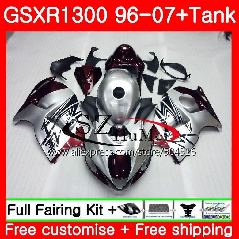 Verkleidungen Für SUZUKI Hayabusa GSXR1300 96 07 GSXR 1300 02 03 04 05 06 07 Dark red neue 42SH24 GSX r1300 2002 2003 2004 2005 2007