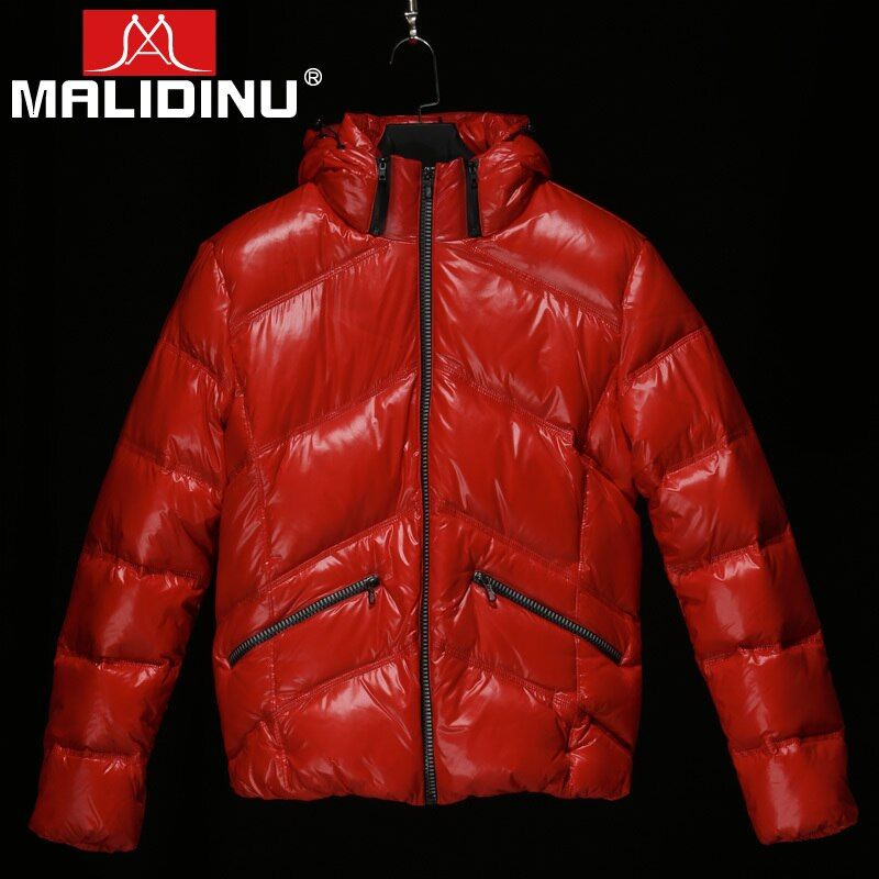 MALIDINU 2018 New Fashion Men Down Jacket Winter Thick Down Coat Brand 70%White Duck Down European Size Down Coat Free Shipping