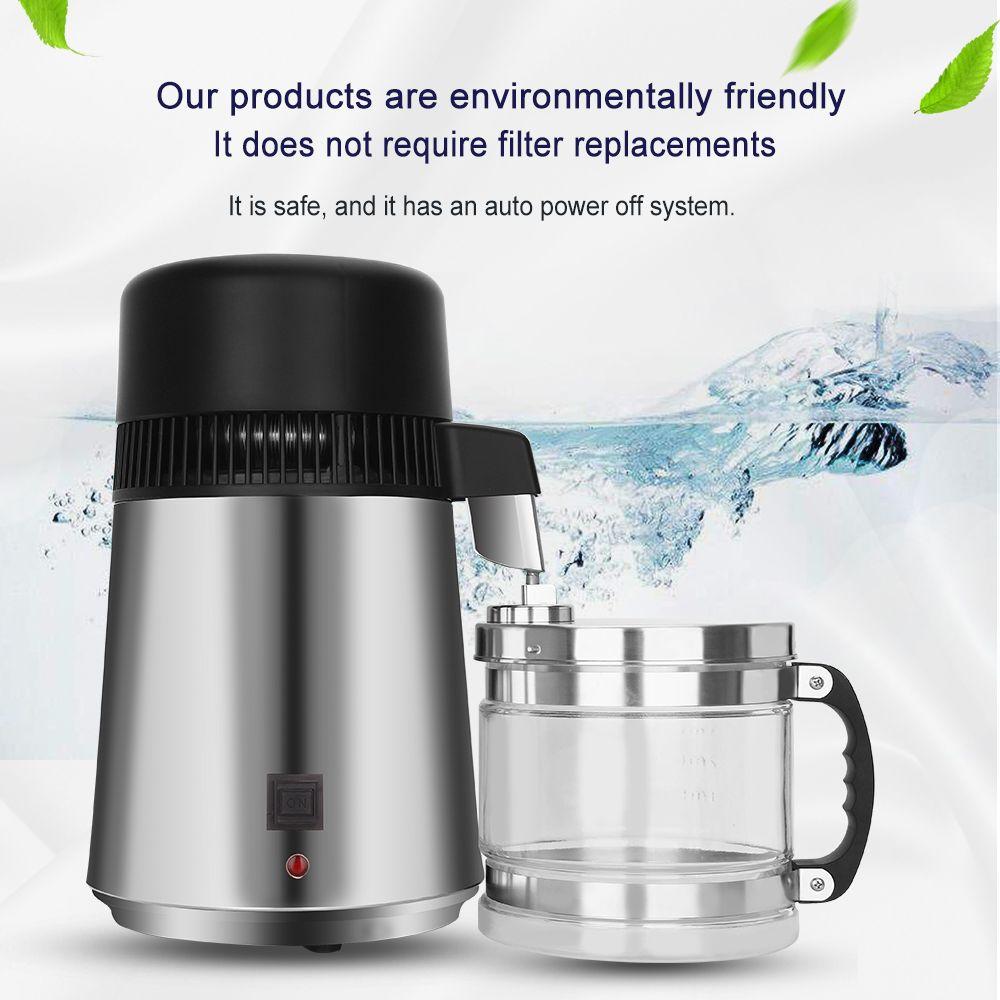 Haushalt 4L Wasser Distiller Destilliertem Wasser Maschine Destillation Wasserfilter Filter Edelstahl Dental Labor Wasser Filter