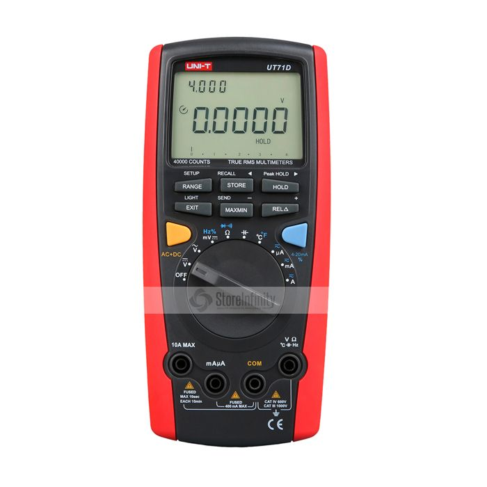UNI-T UT71D 100kHz TRMS Multimeter USB Kabel Tasche Auto Range
