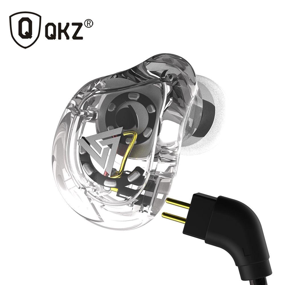 QKZ VK1 Earphones with 4DD In Ear Earphone HIFI DJ Monito Running Sport Earplug Headset fone de ouvidoauriculares audifonos