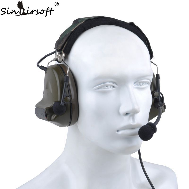 SINAIRSOFT Z-tactical Sordin Tactical Headsets Airsoft Comtac Z 041 ZComtac II Headset Style Helmet Noise Canceling Headphone