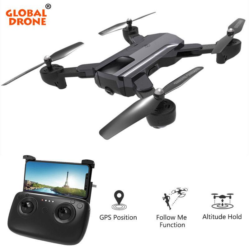 Global Drone GPS Quadrocopter with Camera Full HD Foldable RC Dron Follow Me Auto Return Profissional FPV Drones VS VISUO XS812