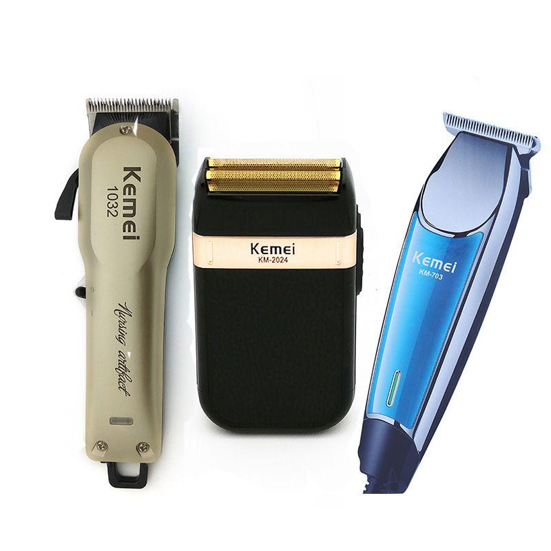 Kemei Professionnel Électrique tondeuse à cheveux Rechargeable Sans Fil Tondeuse Barbe Rasoir Cheveux Machine De Découpe tondeuse à cheveux Barber