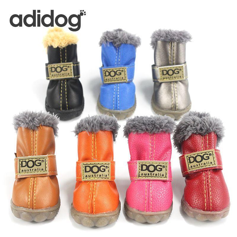 Chaussures pour chiens de compagnie hiver Super chaud 4 pièces/ensemble bottes pour chiens coton anti-dérapant XS XXL chaussures pour petit produit pour animaux de compagnie Chihuahua imperméable à l'eau