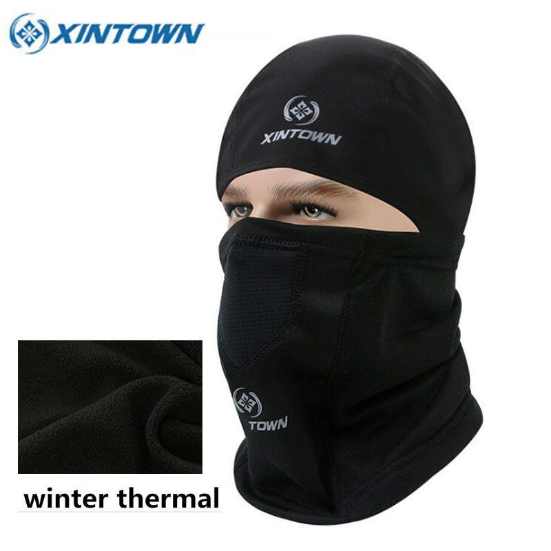 XINTOWN Winter Gesichtsmaske Warme Thermo-fleece Bike Kopf Abdeckung Sport Wandern Camping Lauf Masken Fahrrad Radfahren Gesichtsmaske