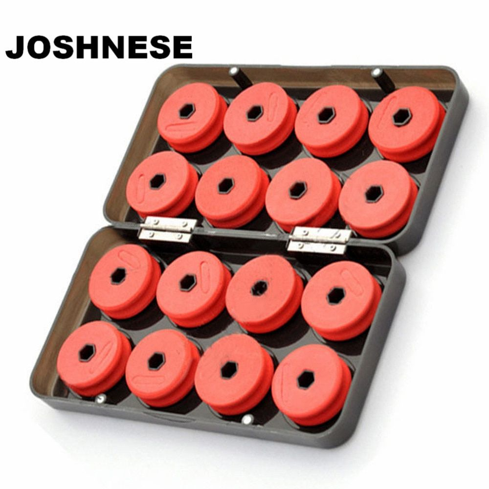 JOSHNESE 16pcs Foam Winding Board Fishing Line Shaft Bobbin Spools Tackle Box RED Utility Line Box Fishing Tackle Boxes Case