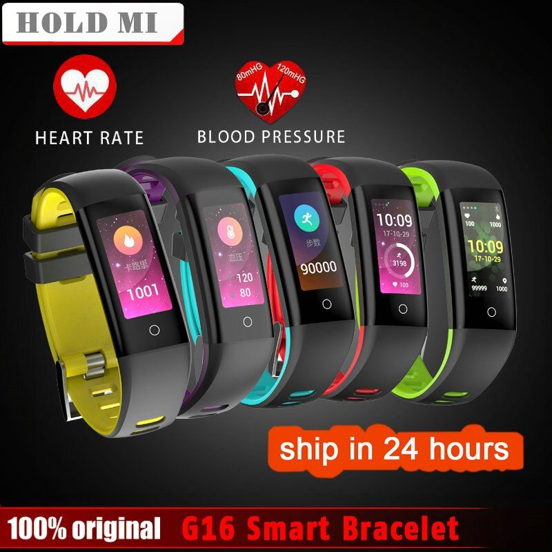 Hold Mi G16 0.96inch Color <font><b>Screen</b></font> Blood Pressure Heart Rate Monitor Smartwatch Smart Watch Wristband for iOS Android VS MiBand 2