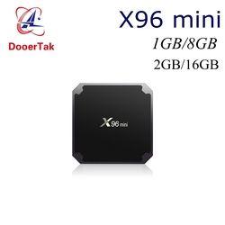 10 pcs Android 7.1 Smart TV BOX Amlogic S905W X96 mini 1G/8G 2G/16G 2.4G WIFI H.265 VP9 UHD HDMI 2.0A KDplayer 17.3 Médias lecteur