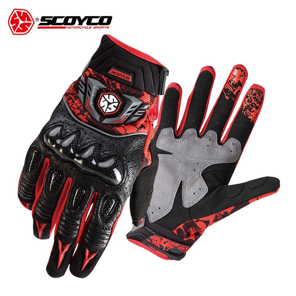 SCOYCO Motorrad Handschuhe Atmungswearable Leder Racing Handschuhe Männer Frauen Motorrad Guantes Luvas Moto Motocross Handschuhe