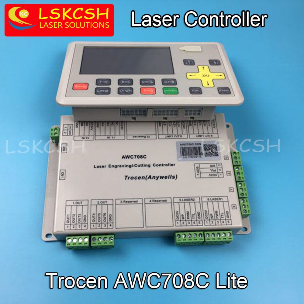 Free Shipping AWC708C Lite Co2 Laser Controller For Co2 Laser Spare Parts Laser Cutting/Engraving Machines Wholesale