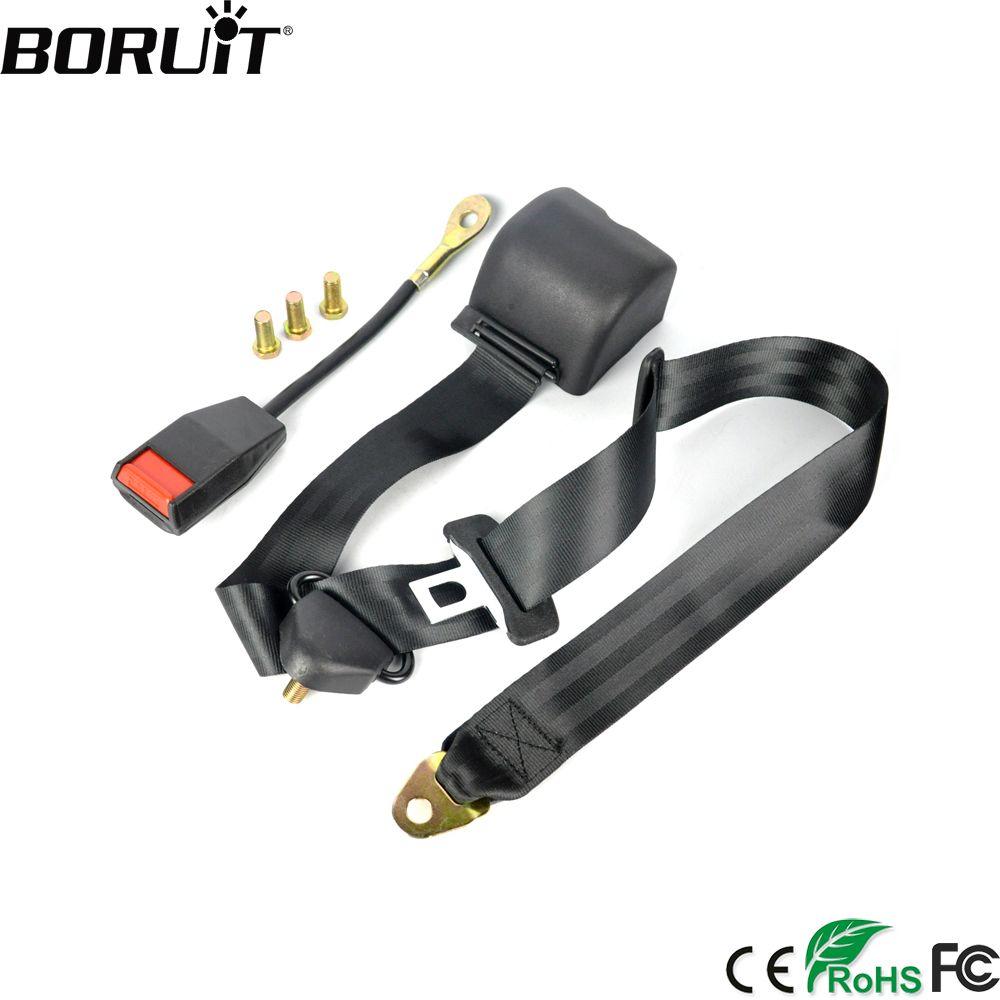BORUiT Universal 3 Point Car Seat Belt Webbing Safety Belt Extension Auto Car Safety Seatbelt Extender Buckle Lock Kit