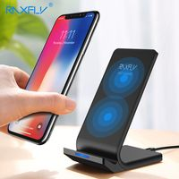 RAXFLY 10W Qi Wireless Charger For iPhone X 8 Plus Fast Charging Holder For Samsung S8 Plus S7 S6 edge Note 8 Phone Fast Charger