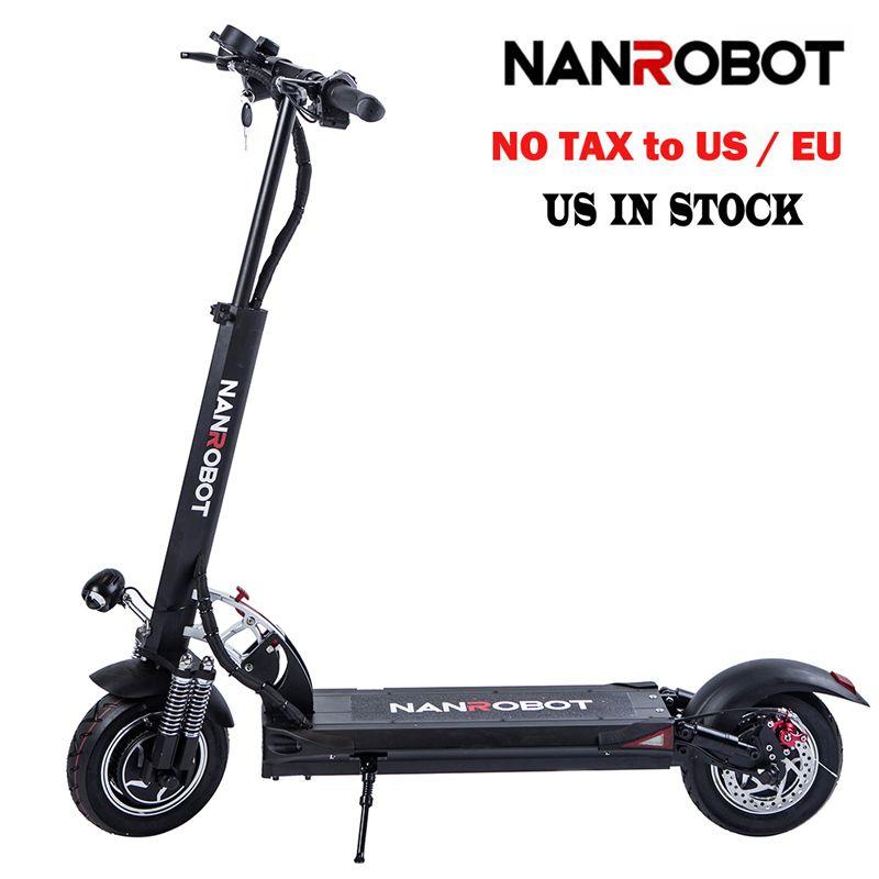 NanRobot D5 + Erwachsene Elektrische Roller 10 ''Faltbare Leichte 2000 W 52 V 26AH Top Geschwindigkeit 40 MPH 40 meilen Reichweite 2 Rad kick