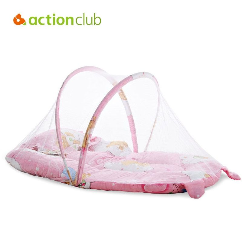 Cartoon Baby Crib Cunas Baby Bed 0-1 Year Infant Portable Folding Baby Cots Foldable Crib With Net Travel Bed Baby Cradle HK1074