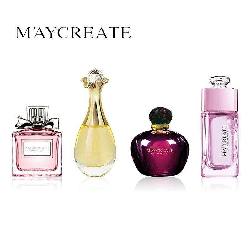 MayCreate 4Pcs/set Women Perfume Lasting Fresh Fragrance Liquid Perfumes Deodorant Lady Perfumes Portable Perfume Atomizer