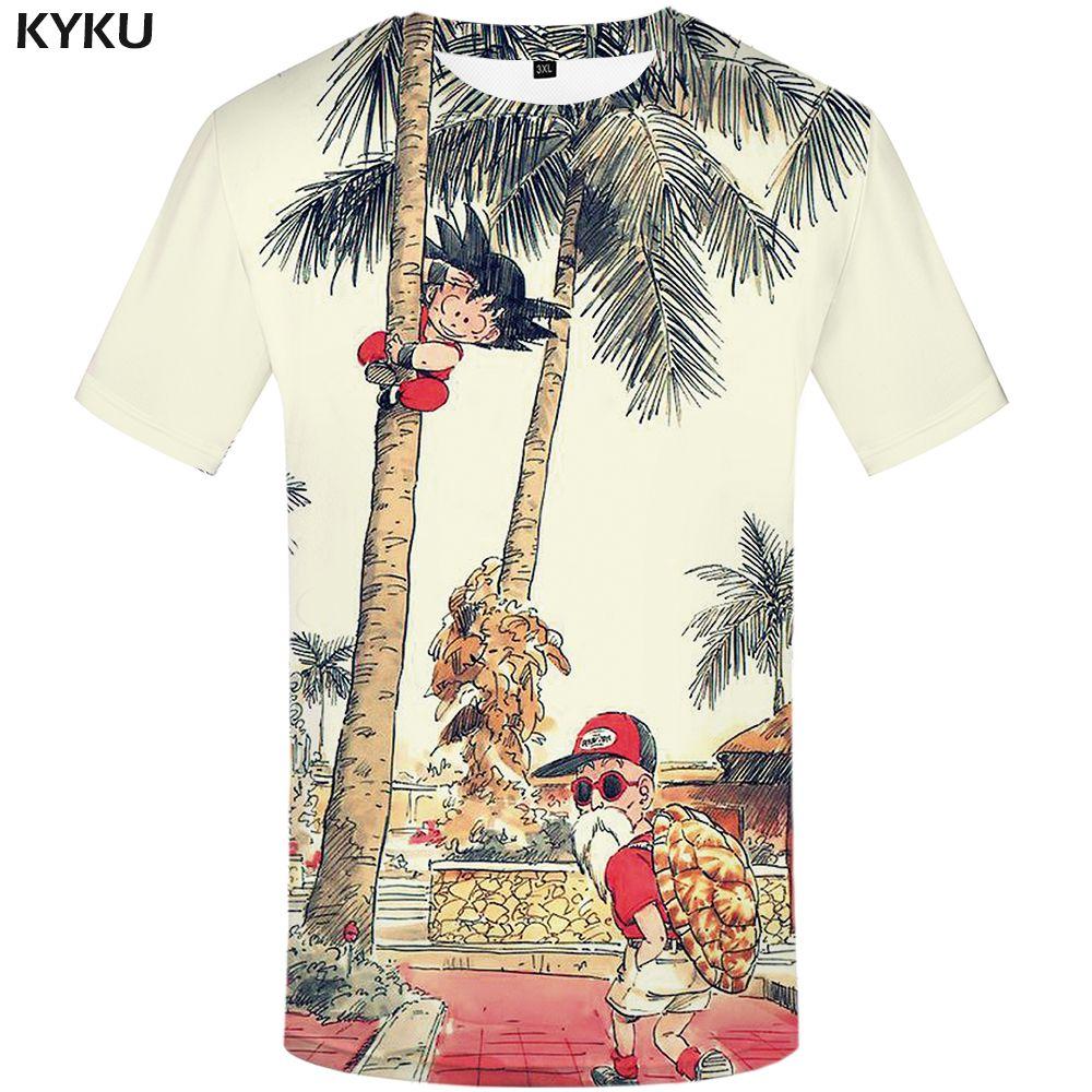 KYKU marque Dragon Ball T Shirt 3d T-shirt Anime hommes T Shirt drôle t-shirts Hip Hop 2017 japonais hommes vêtements Vintage vêtements