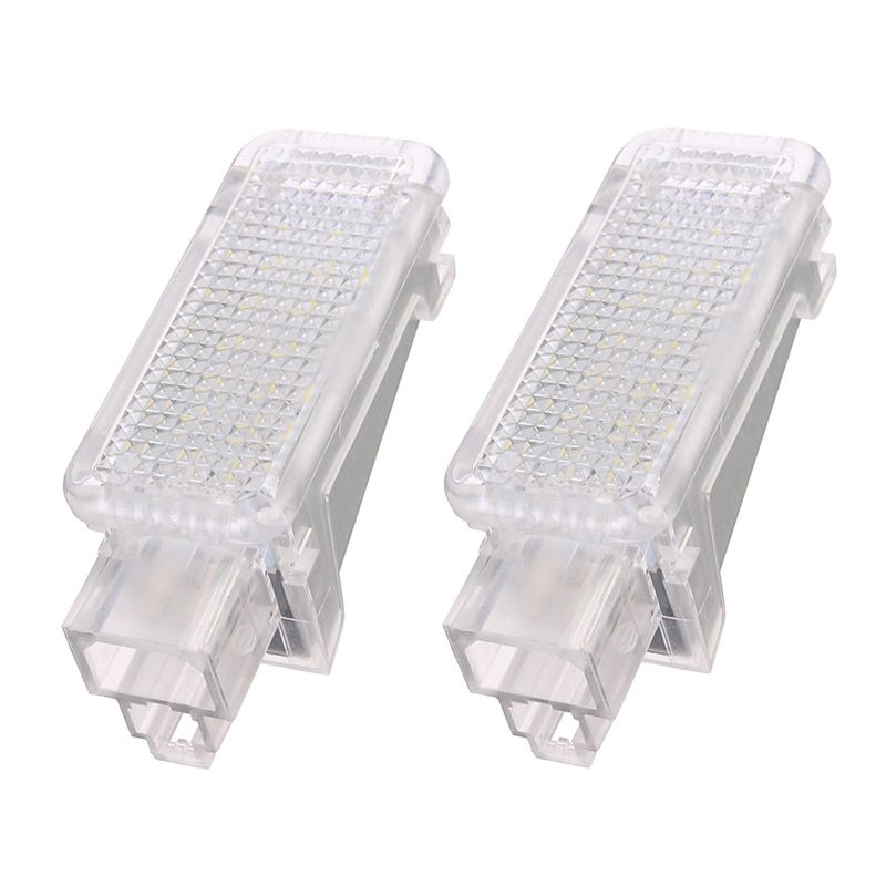 2x 12V Car LED Courtesy Door Projector Light For Audi A3/A4/A6/VW/Skoda Foot Nest Lights Ghost Shadow Light Lamp 6500K White