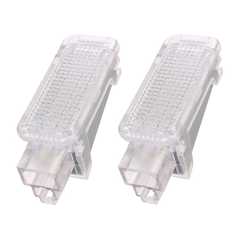 2x12 V voiture LED de courtoisie porte projecteur lumière pour Audi A3/A4/A6/VW/Skoda pied nid lumières fantôme ombre lumière lampe 6500 K blanc