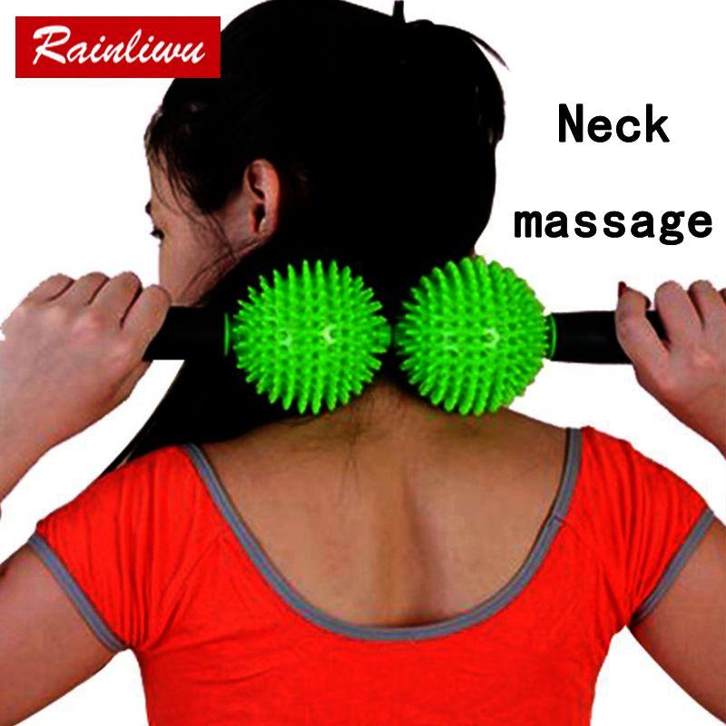 Boule de massage du cou rouleau de Massage du corps Go pain bâton de Fitness Instrument de Massage de soins de santé appareil de maintien de beauté du corps mince