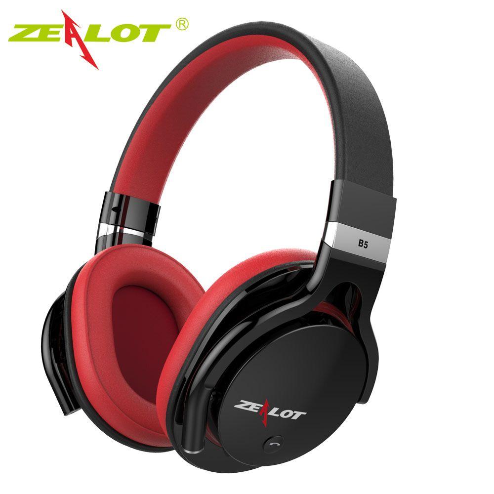 Zealot B5 Bluetooth Stéréo Casque Sans Fil Écouteurs Casque Basse avec Micro Bluetooth4.0 Over Ear Casque avec Micro-Slot SD