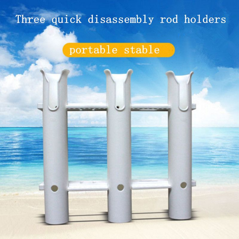 three hole  quick disassembly rod holders portable anticorrosive fishing rack holders rests boat accessories marine
