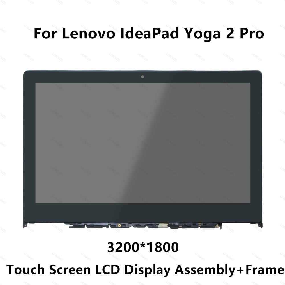 Full LCD Display Panel Touch Screen Glass Monitor Digitizer Assembly with Frame For Lenovo IdeaPad Yoga 2 Pro 20266 LTN133YL01