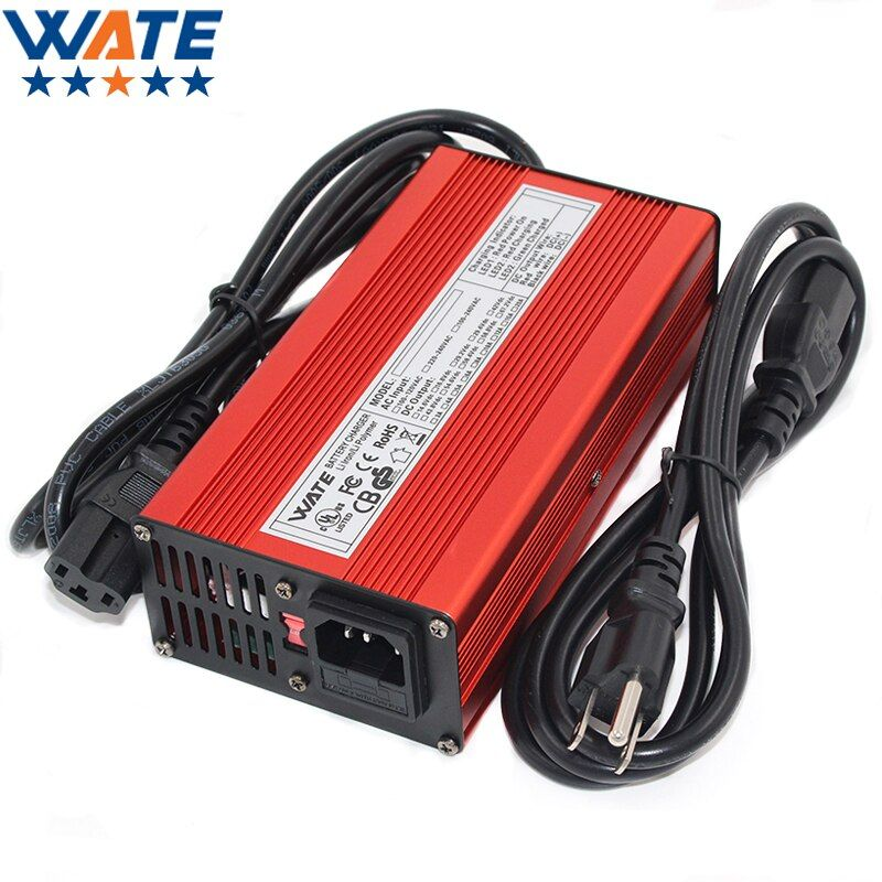 29.2V 8A Charger 24V LiFePO4 Battery Smart Charger 8S red Aluminum shell With fan Battery pack Robot electric wheelchair