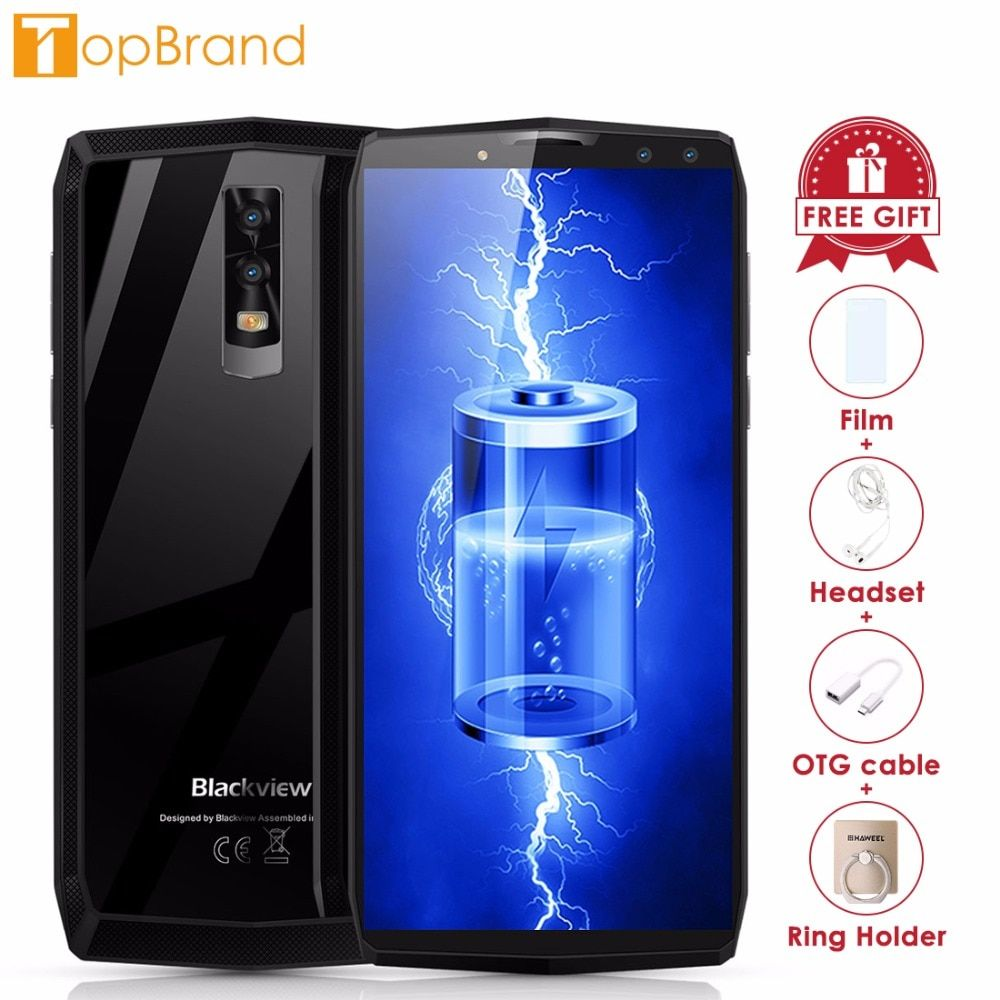 <font><b>Blackview</b></font> P10000 Pro Smartphone 5.99 incell FHD MTK6763 Octe Core 11000mAh 4GB 64GB 16MP Dual Cams Android 7.1 4G Mobile phone