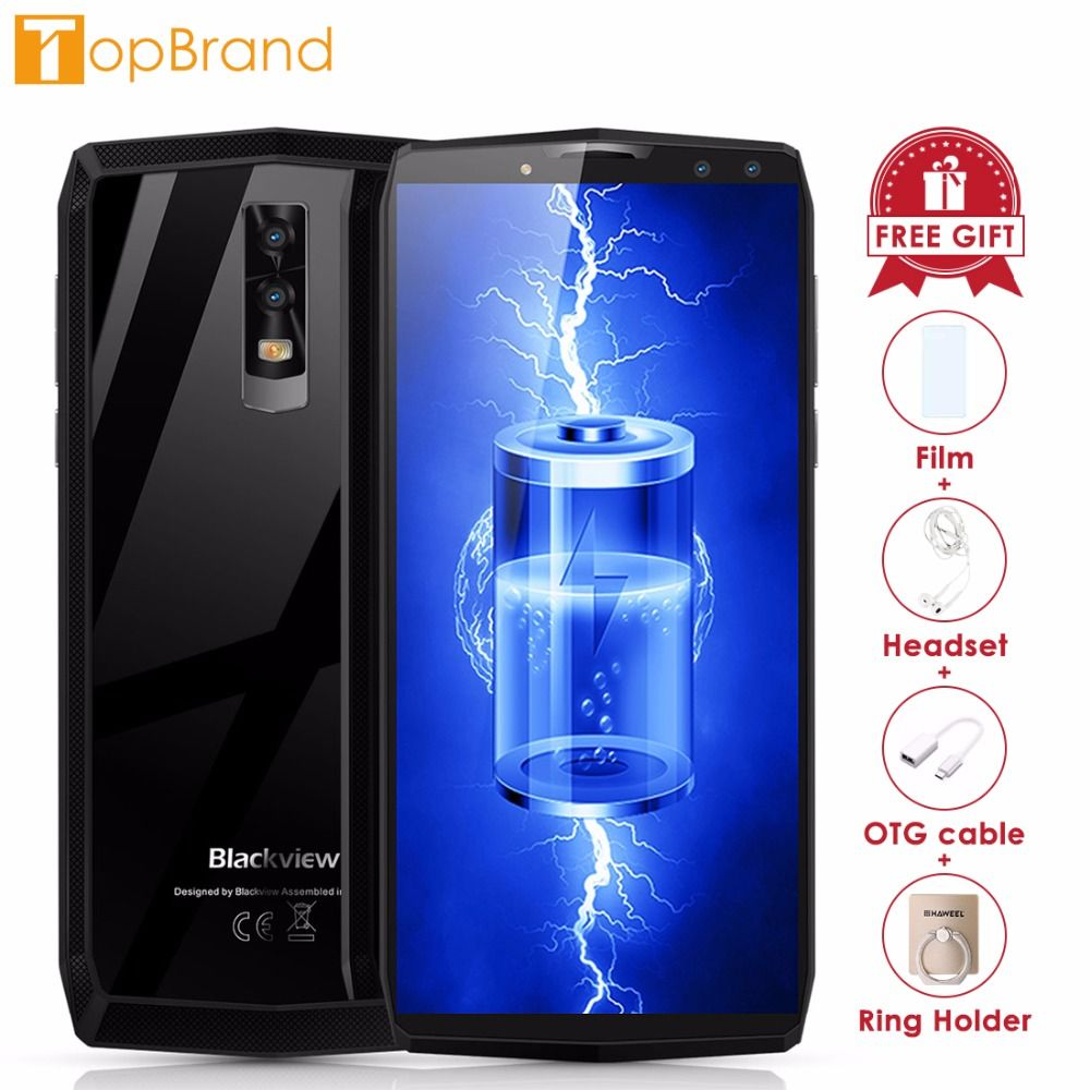 Blackview P10000 Pro Smartphone <font><b>5.99</b></font> incell FHD MTK6763 Octe Core 11000mAh 4GB 64GB 16MP Dual Cams Android 7.1 4G Mobile phone