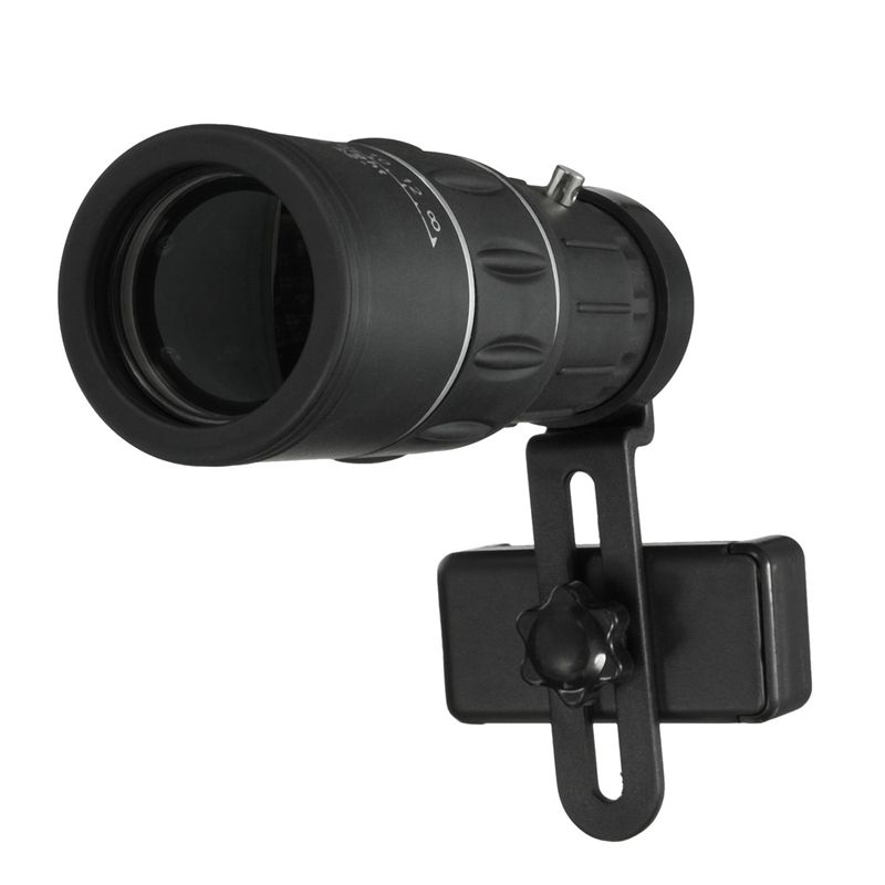 Universal 16X52 Phone Hiking Monocular Telescope Lens Optical Glass Camping Telescope With <font><b>Clip</b></font> Holder For iPhone For Samsung