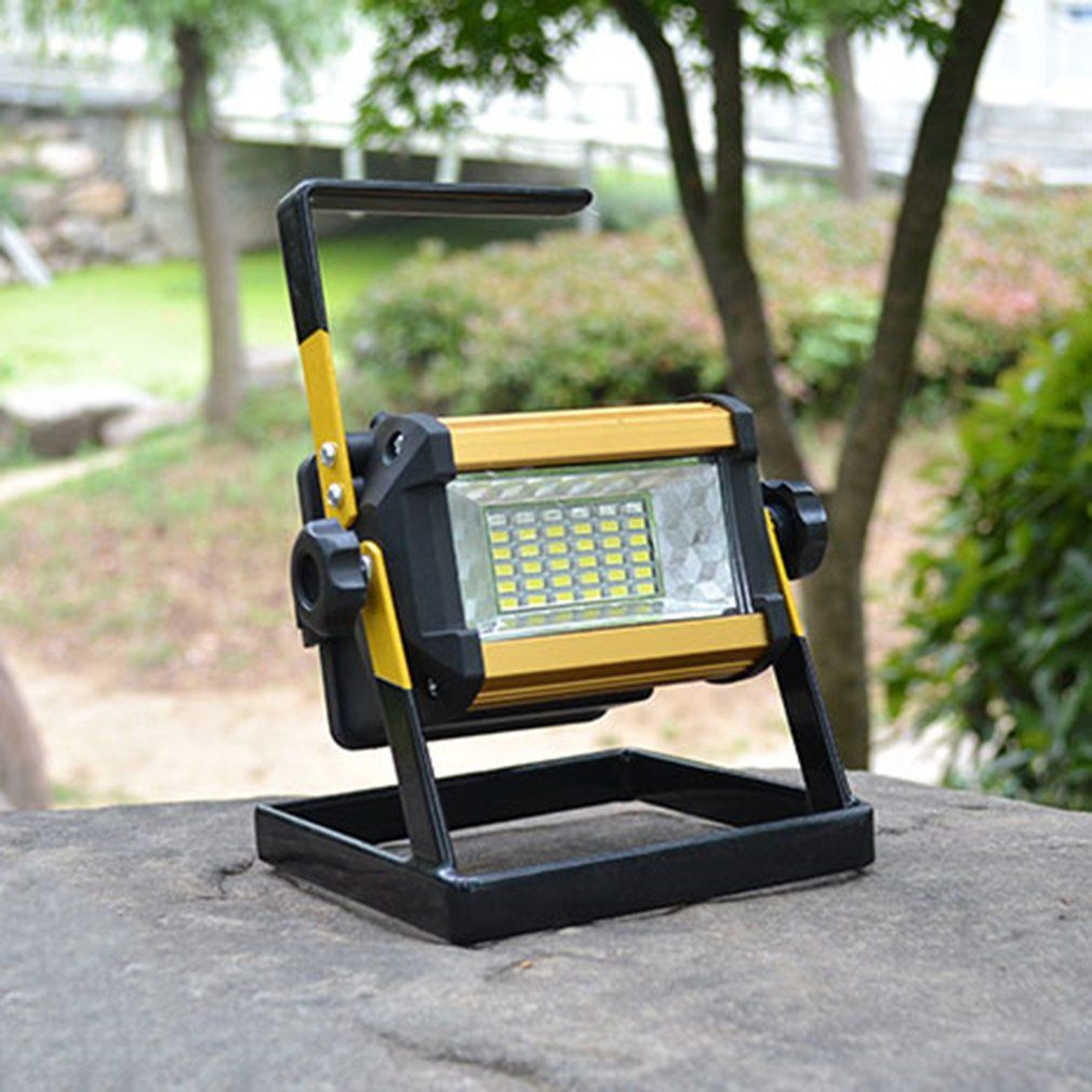 Wide Angle Projection Lamp Light LED Searchlights Mobile Rechargeable Warning Light Waterproof Flood Light with Holder