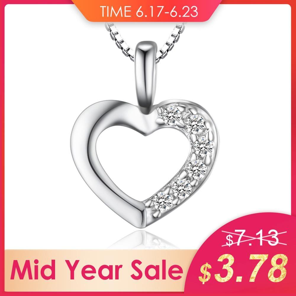 Bijoux palais 925 en argent Sterling coeur amour mariage fiançailles 45 cm chaîne collier pendentif mode bijoux colliers pour femmes