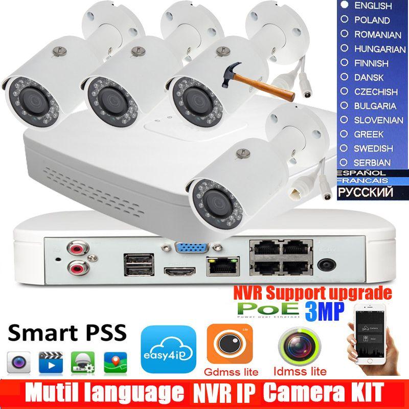 4Ch POE NVR4104-P-4ks2 Kit Kugel IP Kamera System P2P 4 Kanal POE NVR System Onvif & Einfach Access Unterstützt PC & Mobile Ansicht