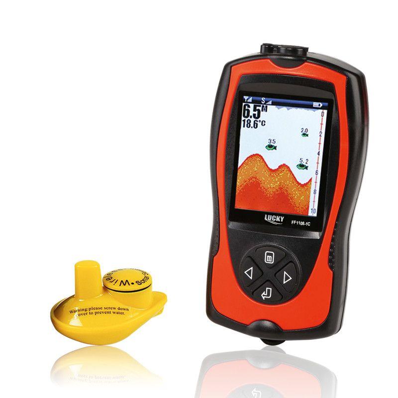 FF1108-1CW chanceux sans fil Sonar transducteur glace/océan/bateau détecteur de poisson alarme détecteur de poisson