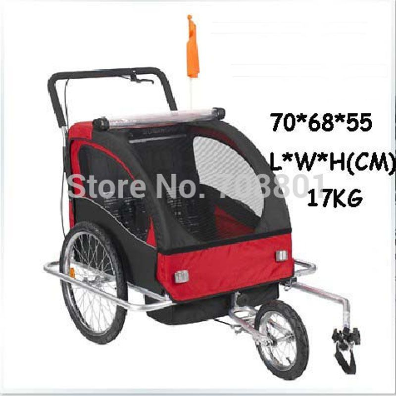 Aluminum alloy frame baby stroller bike trailer kids jogger stroller Bike Tandem bicycle trailer