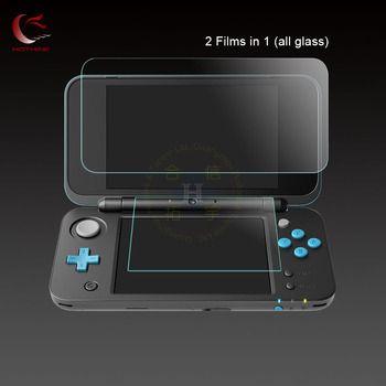 HOTHINK souper mince 9 H 0.26mm Haut Haut Écran En Verre Protecteur Film + 0.18mm Fond Verre Film Pour Nintendo NOUVEAU 2DS XL/2ds ll