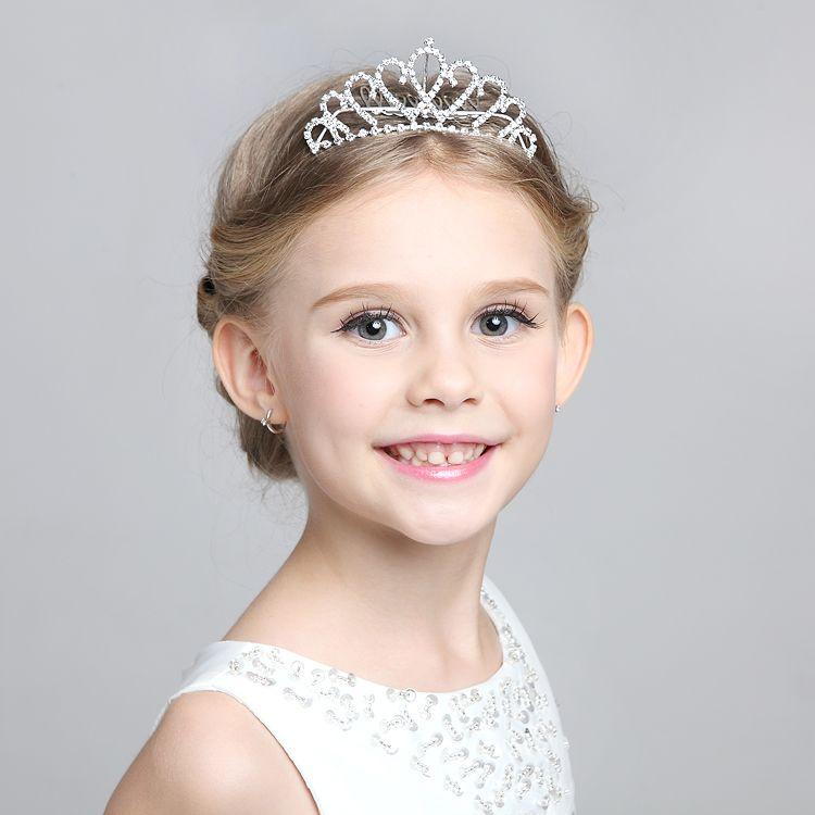 Novo projeto de strass Cown cabelo clipe meninas cabelo acessorios grade acessorios Crown criancas fita grampos cabelo do bebe