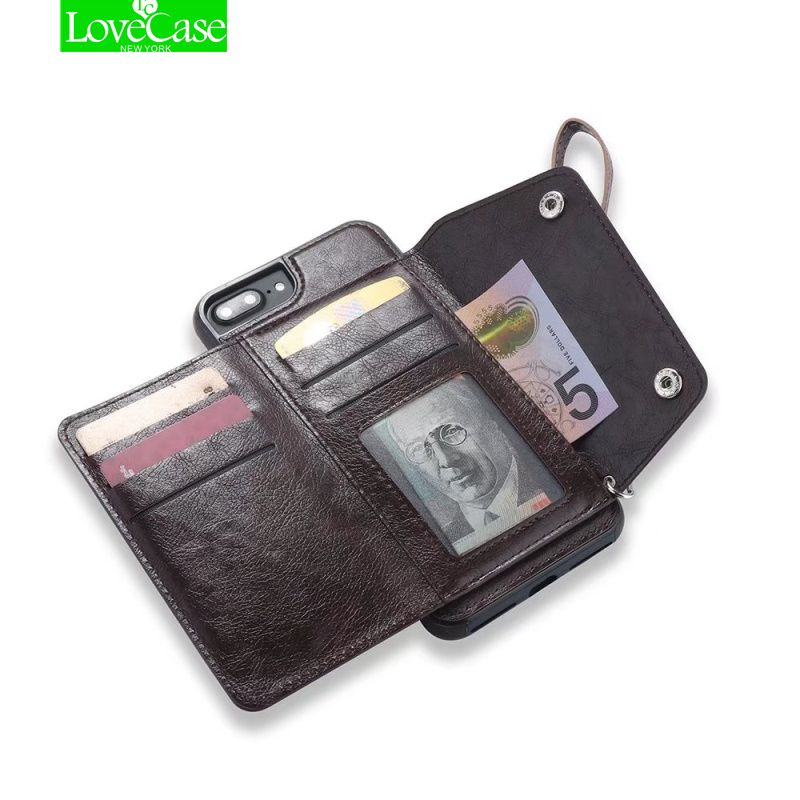LoveCase Retro PU Leather Case For iPhone 6 6s 7 8 Plus Card Slot Cover For iPhone 7Plus 8Plus Luxury Protective Back Fundas