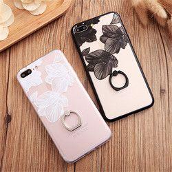 Pour l'iphone 6 s Cas pour Coque iPhone 7 Plus 8 8 P De Luxe 6 Plus Femelle Mobile Téléphone Retour Coque Couverture Rétro Fleur Doux Cas 012 S