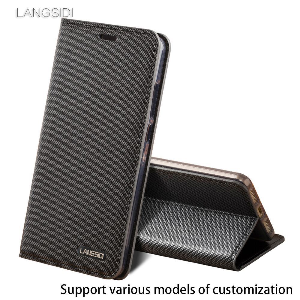 Business style Genuine Leather Three card slots flip Case For Nokia Lumia 950 XL Diamond pattern Silicone inner shell  case