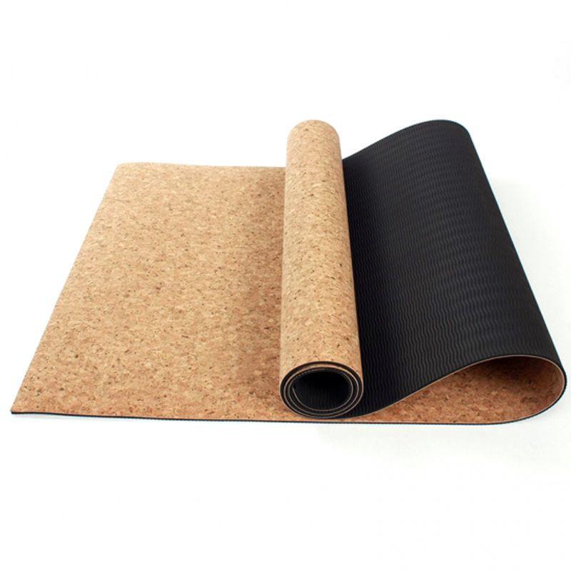 YHSBUY 3MM/4MM/5MM/6MM/8MM Sports Yoga Mat Cork Natural Rubber Yoga Mat TPE Fitness Non-slip Exercise Pilates Workout,HB025