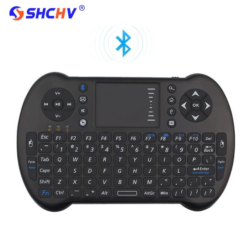 Bluetooh Беспроводной мини-клавиатура Дистанционное управление Touchpad Мышь Keyborad Android ТВ Box Ноутбук для оранжевый Pi для iPhone 6 7 RPI 3