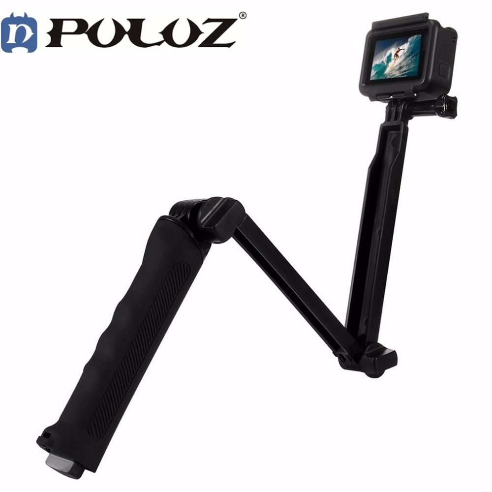 For Gopro Hero Accessories Puluz 3 Way Floating Handle Grip Tripod Mount Selfie Stick for Go pro HERO 5 4 3+ 3 2 1